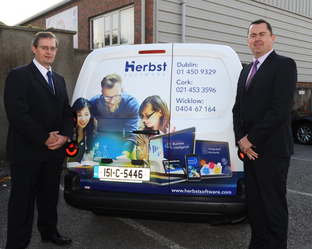 Herbst Software Cork with Mark and John at back of van - small